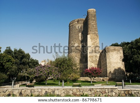 maidens tower landmark in baku azerbaijan