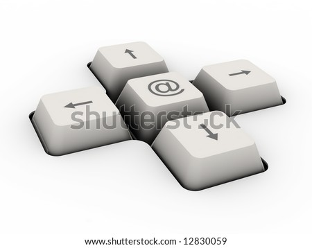 mail alias - keyboard button (image can be used for printing or web)