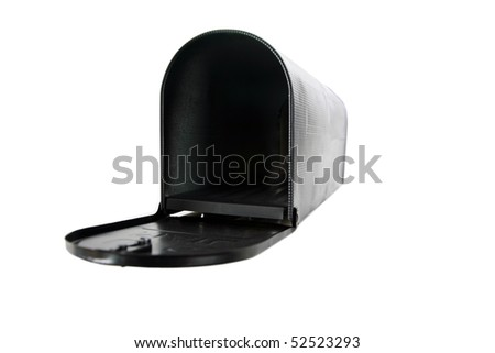 mail box isolated on white - stock photo