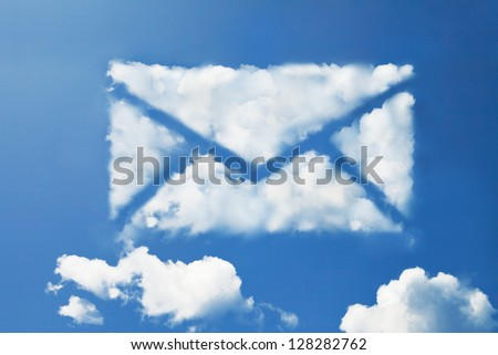 mail cloud shape