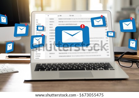 Mail Communication Connection message to mailing contacts phone Global Letters Concept Zdjęcia stock ©