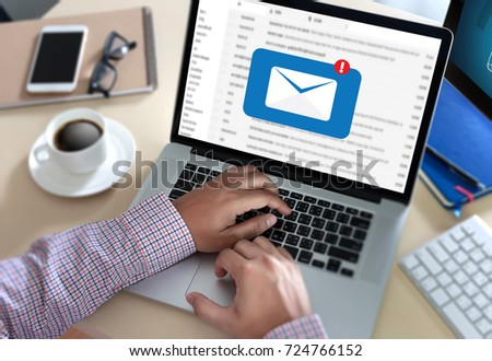Mail Communication Connection message to mailing contacts phone Global Letters Concept #724766152