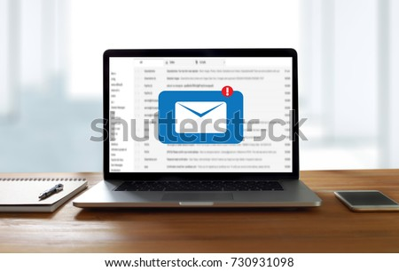 Mail Communication Connection message to mailing contacts phone Global Letters Concept #730931098
