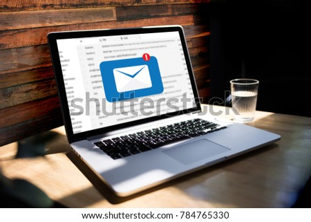 Mail Communication Connection message to mailing contacts phone Global Letters Concept #784765330