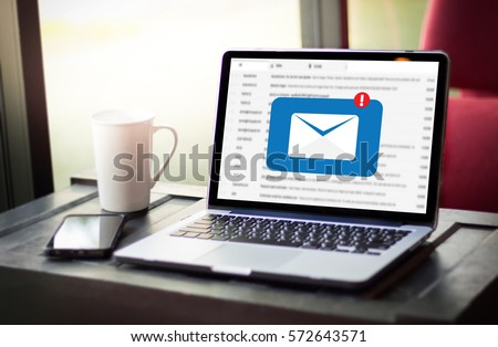 Mail Communication Connection message to mailing contacts phone Global Letters Concept computer browsing communication