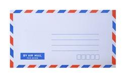 mail envelope on white background