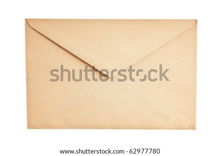 mail envelopes isolated on white background