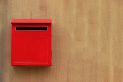 Mail red mailbox postbox letter design background