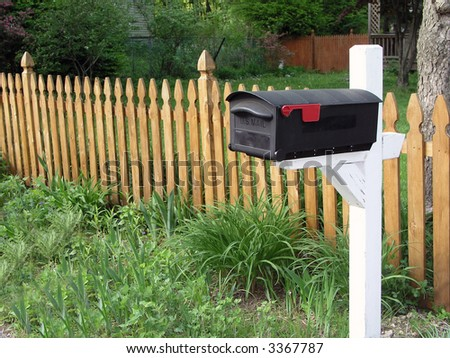 Mailbox and fence