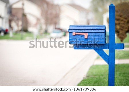 Mailbox in suburb - Shutterstock ID 1061739386