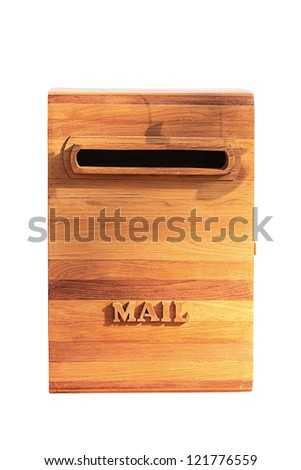 Mailbox Isolated on the white background.
