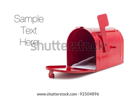 Mailbox isolated on white, copy space