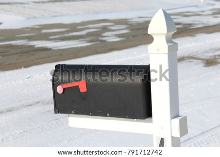 Mailbox on a wintry day #791712742