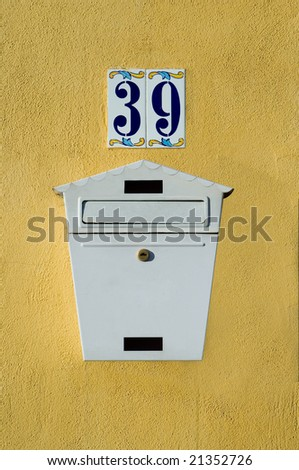 Mailbox on the wall