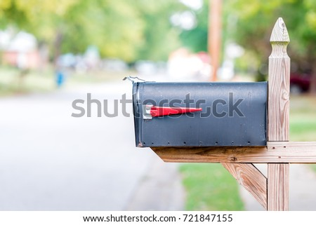 Mailbox with flag down - Shutterstock ID 721847155