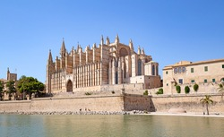 Main cathedral of the Palma de Mallorca city in Spain