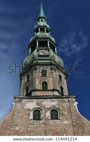 Main church in the capital of Riga