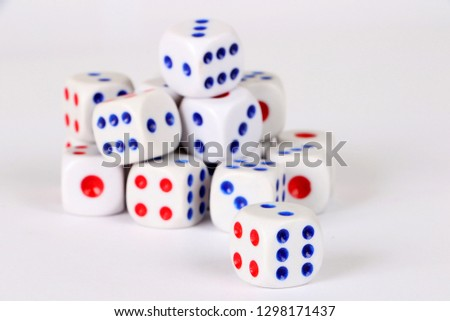 Main dice and dice on background #1298171437