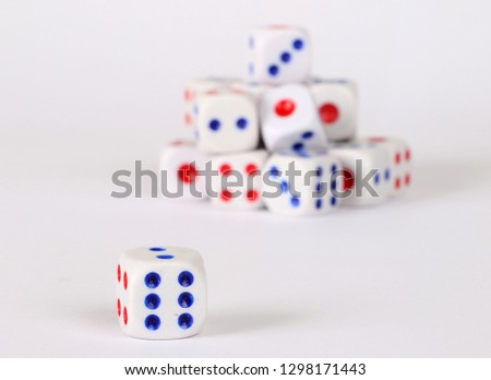 Main dice and dice on background #1298171443