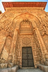 Main Door of the Great Mosque and Hospital of Divrigi, Sivas, Turkey. No stone such a spirit, not processed anywhere in the world. Islamic Architecture Great Mosque Sivas, which works in the head.
