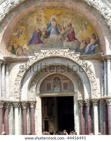main entrance to st mark's basilica