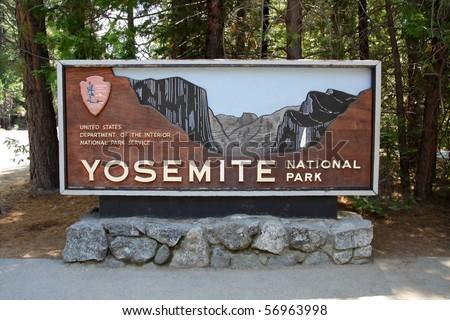 Main entrance to Yosemite National Park, California