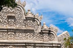 Main gate at Taman Sari water palace- the Royal garden of sultanate of Yogyakatra. Java, Indonesia.