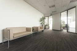 Main hall in a new contemporary office