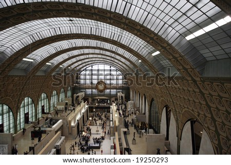 Main hall of the d Orsay Museum in Paris