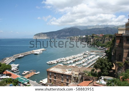 Main harbor on the Italian coast