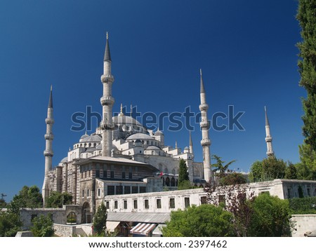 Main mosque of Istanbul - Sultan Ahmet camii. Most famous as Blue mosque.
