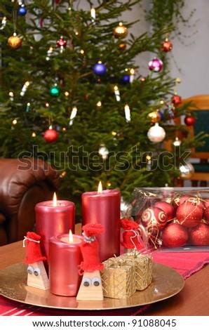 Main room ready for Christmas