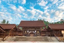 Main shrine scenery of the Izumo Taisha Shrine in Izumo city, Japan
