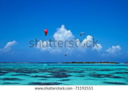 Main spot of Kitsurf on Moorea island, French Polynesia