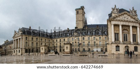 main square in dijon and palace ...