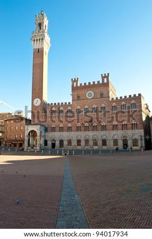 Main square in Siena, Italy