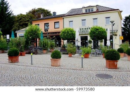 Main Square of Bad Sauerbrunn, Austria - stock photo