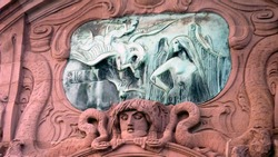 Main square of Mannheim - sculpture