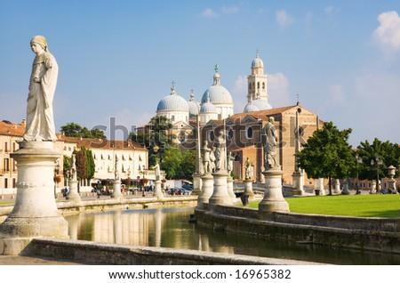 Main square of Padua Italy.