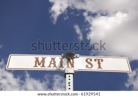 Main St American road sign