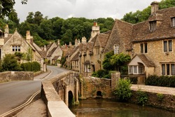 Main street in Castle Combe, Wiltshire, England, UK