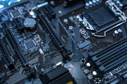 Mainboard Electronic computer background. (logic board,cpu motherboard,Main board,system board,mobo)