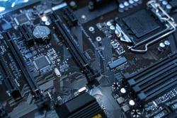 Mainboard Electronic computer background. (logic board,cpu motherboard,Main board,system board,mobo)