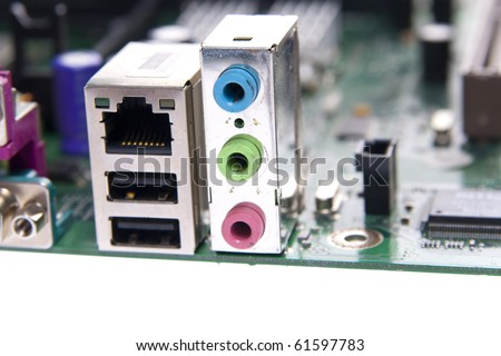 Mainboard on white background