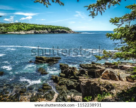 Maine Coast, featuring Bar Harbor and Acadia National Park #1152238931