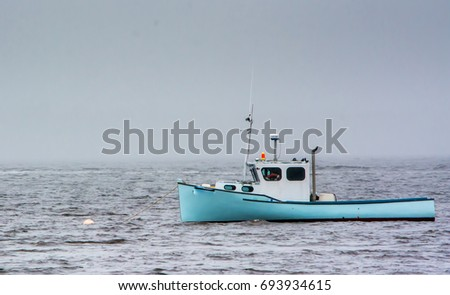 Maine Lobster Boat in the Fog