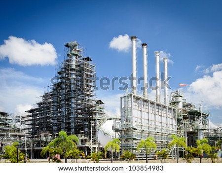 Maintenance  column tower in petrochemical plant