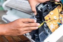 Maintenance of air conditioners by technicians