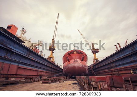 maintenance of the vessel