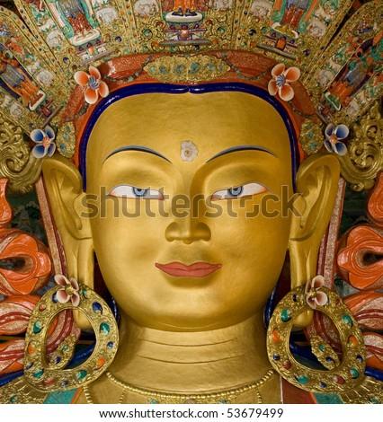 Maitreya Buddha, Thiksey Gompa, Ladakh